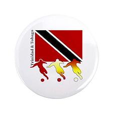 "Trinidad & Tobago Soccer 3.5"" Button (100 pack)"