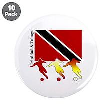 "Trinidad & Tobago Soccer 3.5"" Button (10 pack)"