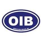 OIB Ocean Isle Beach, NC Euro Blue Oval Sticker