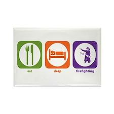 Eat Sleep Firefighting Rectangle Magnet