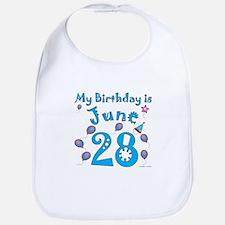 June 28th Birthday Bib