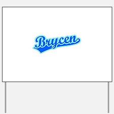 Retro Brycen (Blue) Yard Sign
