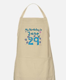 June 29th Birthday BBQ Apron