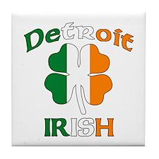 Detroit Irish Tile Coaster
