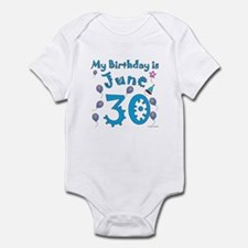 June 30th Birthday Infant Bodysuit