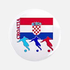 "Croatia Soccer 3.5"" Button (100 pack)"