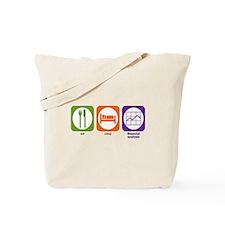 Eat Sleep Financial Analysis Tote Bag