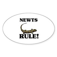 Newts Rule! Oval Decal