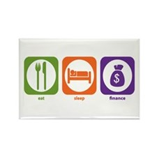 Eat Sleep Finance Rectangle Magnet