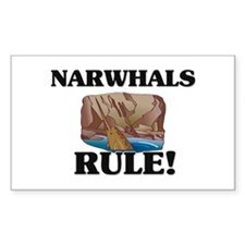 Narwhals Rule! Rectangle Decal