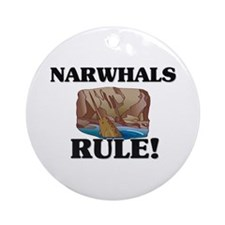 Narwhals Rule! Ornament (Round)