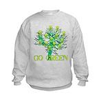 Earth Day Skulls Kids Sweatshirt