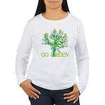 Earth Day Skulls Women's Long Sleeve T-Shirt