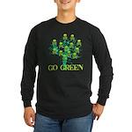 Earth Day Skulls Long Sleeve Dark T-Shirt