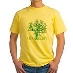 Earth Day Skulls Yellow T-Shirt
