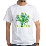 Earth Day Skulls White T-Shirt