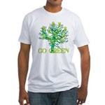 Earth Day Skulls Fitted T-Shirt