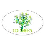 Earth Day Skulls Oval Sticker (50 pk)