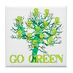 Earth Day Skulls Tile Coaster
