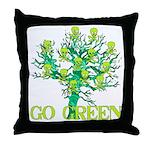 Earth Day Skulls Throw Pillow