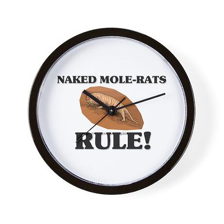 Naked Mole-Rats Rule! Wall Clock