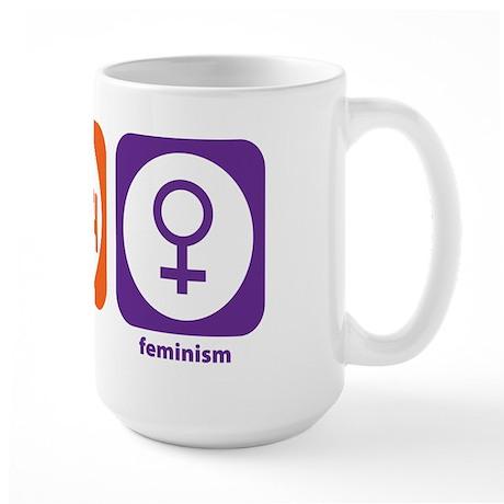 Eat Sleep Feminism Large Mug