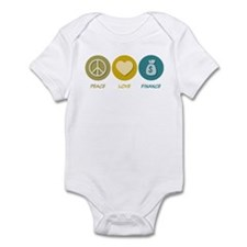 Peace Love Finance Infant Bodysuit