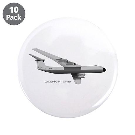 "C-141 Starlifter 3.5"" Button (10 pack)"
