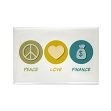 Peace Love Finance Rectangle Magnet (10 pack)