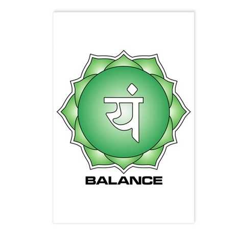 4th Chakra Postcards (Package of 8)
