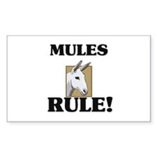 Mules Rule! Rectangle Decal