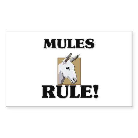 Mules Rule! Rectangle Sticker