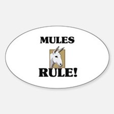 Mules Rule! Oval Decal