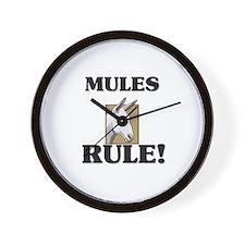 Mules Rule! Wall Clock