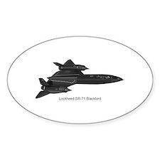 SR-71 Blackbird Oval Decal