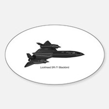 SR-71 Blackbird Oval Decal
