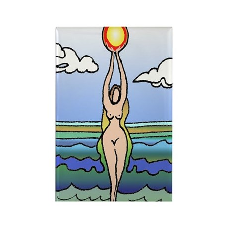 Fertility Goddess Rectangle Magnet