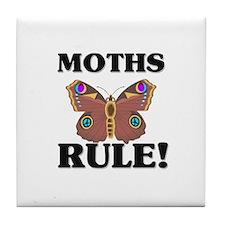 Moths Rule! Tile Coaster