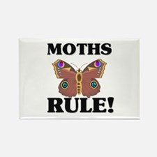 Moths Rule! Rectangle Magnet