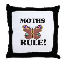 Moths Rule! Throw Pillow