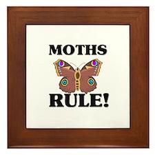 Moths Rule! Framed Tile