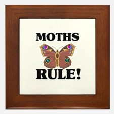 Moths Rule! Framed Tile