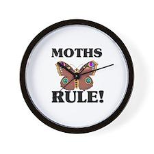 Moths Rule! Wall Clock
