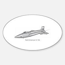 X-15 Rocket Power Aircraft Oval Decal