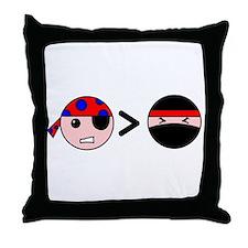 Pirates Greater Than Ninjas Throw Pillow
