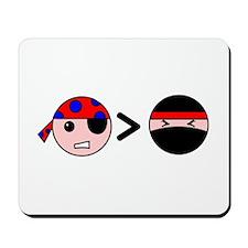Pirates Greater Than Ninjas Mousepad
