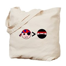 Pirates Greater Than Ninjas Tote Bag