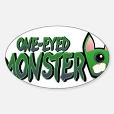 One Eyed Monster Oval Decal