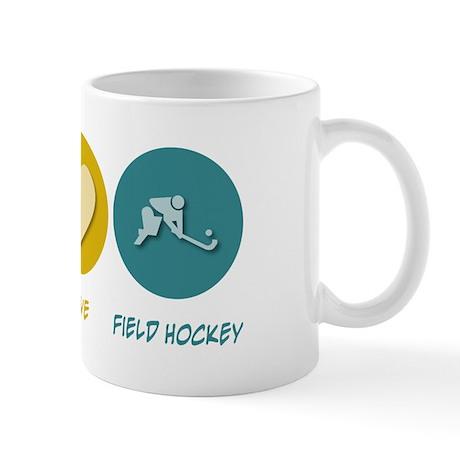 Peace Love Field Hockey Mug