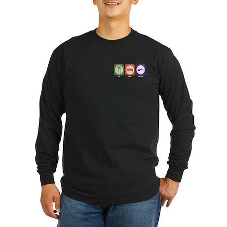 Eat Sleep Excavate Long Sleeve Dark T-Shirt